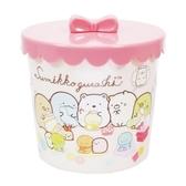 〔小禮堂〕角落生物圓形塑膠拿蓋收納罐《黃粉玩偶》糖果罐置物罐飾品罐4930972 48824
