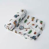 美國 Little Unicorn 竹纖維紗布巾單入組/包巾~昆蟲圖鑑