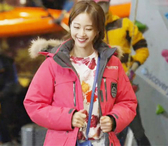 【葉子小舖】韓劇美女的誕生韓藝瑟莎拉長款羽絨衣外套/桃紅色/粉色羽絨外套/大衣/厚外套