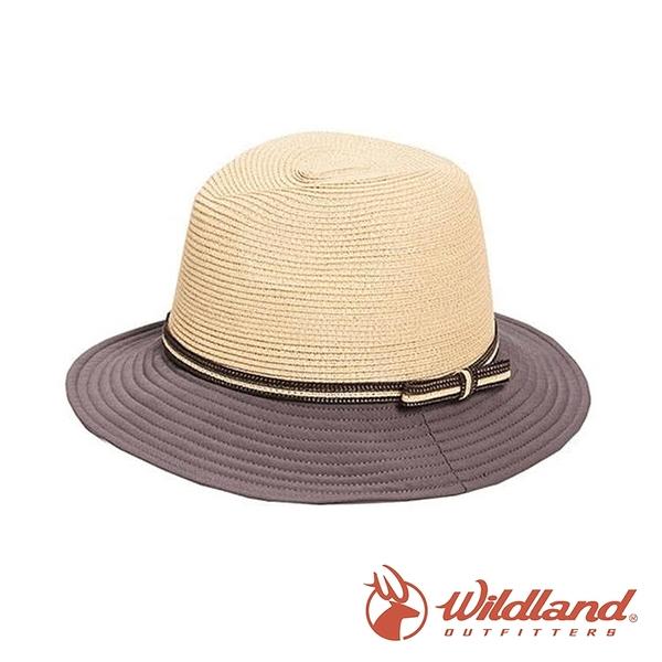 【wildland 荒野】中性 N/P時尚帽 (帽沿配布)『深卡灰』W1071 戶外 休閒 運動 露營 登山 吸濕 排汗
