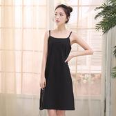 牛奶絲細肩帶及膝(上)連身襯裙-85cm   (白  黑)兩色售  11670005
