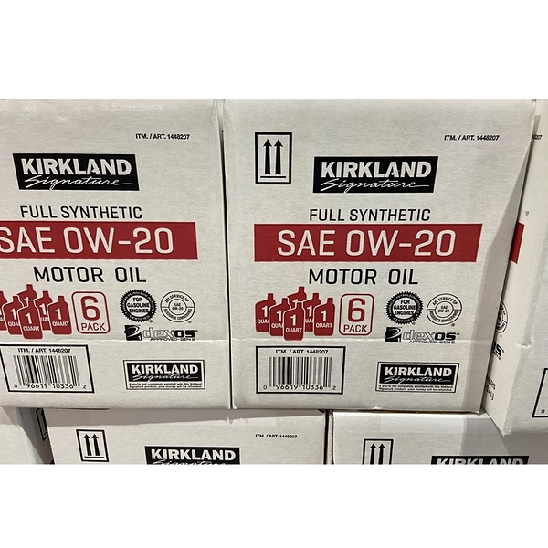 [COSCO代購] C1448207 KIRKLAND SP SAE FULL SYNTH MOTOR OIL 0W-20 全合成機油 946ML X 6PK