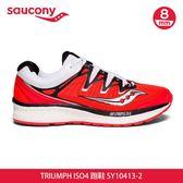 saucony 女TRIUMPH ISO4 跑鞋SY10413-2【紅】/ 城市綠洲 (跑鞋、戶外休閒鞋、EVERUN)