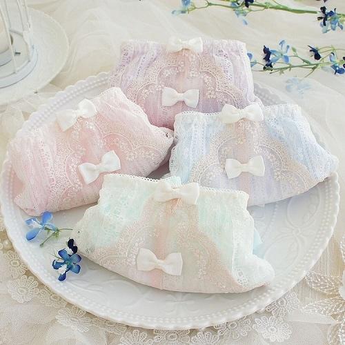 【NiNi Me】 甜美可愛清新粉嫩色系舒服透氣中腰內褲 內褲 P0001