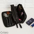 Catsbag 韓式防潑水雙層多收納化妝包|收納包A2604