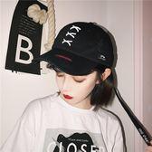 (中秋大放價)日韓朋克風破洞彎檐棒球帽子夏季防曬棉綁帶男女潮鴨舌帽學生街頭