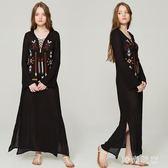 波西米亞洋裝2018新款氣質民族風度假長裙沙女zzy3110『時尚玩家』
