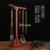 毛筆架新中式高檔筆架創意毛筆架高檔明式復古紅木毛筆掛放毛筆掛件 『獨家』流行館