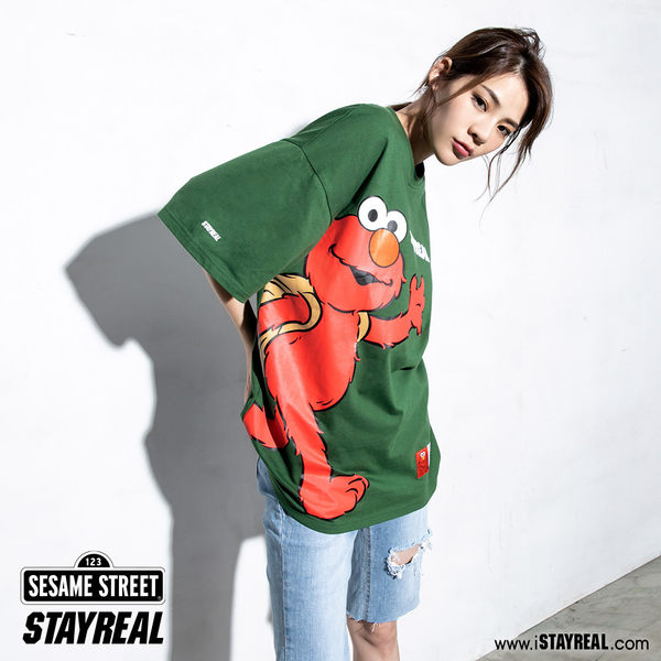 STAYREAL x 芝麻街 Elmo來了寬版T
