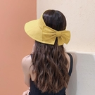 帽子女春夏韓版百搭防曬遮臉太陽帽 ins網紅漁夫帽防紫外線空頂帽 快速出貨