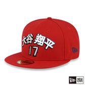 NEW ERA 59FIFTY 5950 MLB 天使 OHTANI 大谷翔平 17 紅