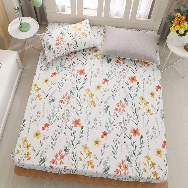 鴻宇 雙人床包組 100%精梳純棉 如茵草 台灣製C20102