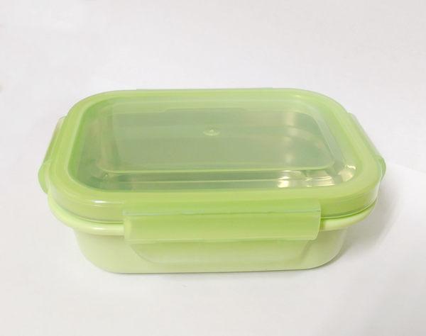 ☆美國 歐比寶貝 onbibaby onbi baby 不銹鋼餐具單品 餐盒(綠) -超級BABY