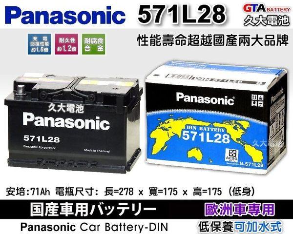 ✚久大電池❚ 日本 國際牌 Panasonic 汽車電瓶 汽車電池 571L28 57114 性能壽命超越國產兩大品牌