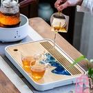茶盤干泡盤小型瀝儲水式簡約小茶臺竹制密胺托盤茶具茶海【匯美優品】