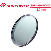 24期零利率 SUNPOWER TOP1 82mm ND4-ND400 可調減光鏡