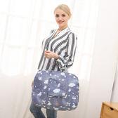 ◄ 生活家精品 ►【T07-1】日式印花可折疊行李拉桿包 手提 旅行袋 商務   收納 健身袋 肩背 網袋