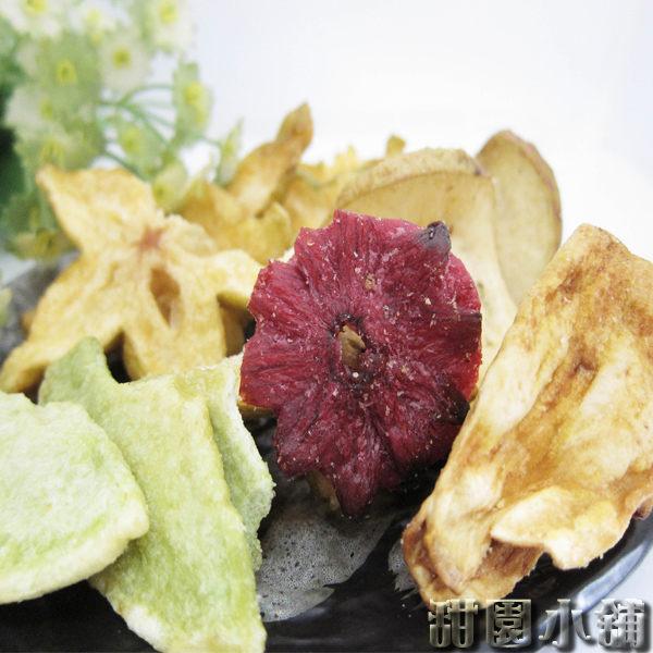 綜合水果脆片 大包裝 300g 水果餅乾 乾燥水果 脫水水果 水果脆片 素食 【甜園】
