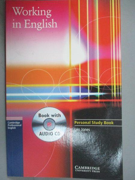 【書寶二手書T1/語言學習_HGM】Working In English Personal Study_Jones, Leo