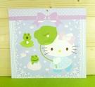 【震撼精品百貨】Hello Kitty 凱蒂貓~雙面卡片-紫青蛙