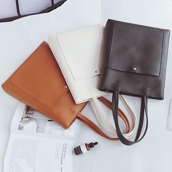 (免運)DE shop - 簡約百搭大容量韓版休閒單肩手提包 - M-3877