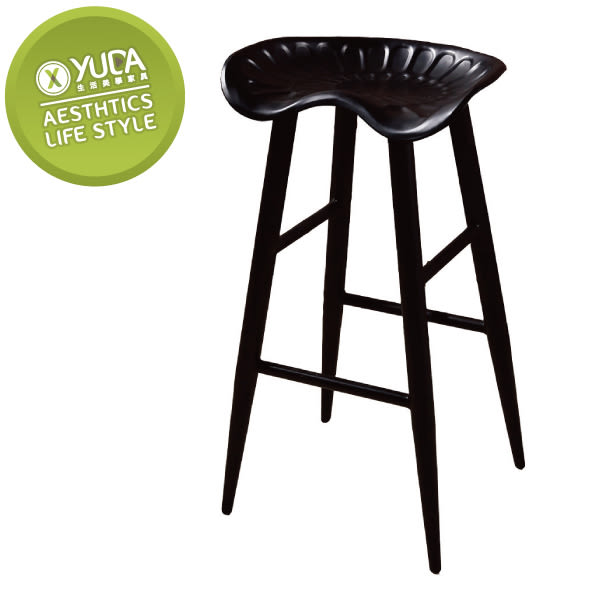 【YUDA】庫克 黑腳 吧台椅 J8F 490-6