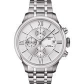 TISSOT 天梭 杜魯爾系列機械計時手錶/手錶-銀/44mm T0994271103800