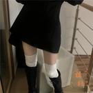 蕾絲長筒襪女過膝日系加厚棉花邊大腿襪【橘社小鎮】