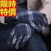 觸控手套真皮 -英倫格紋秋冬手工精緻小羊皮男手套2款64ak22[巴黎精品]