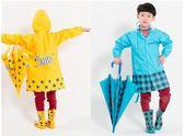 卡通兒童雨衣正韓可愛幼兒學生雨披男童女童帶書包位雨衣