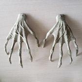 恐怖巫婆手爪子道具仿真骷髏手萬圣節裝飾品