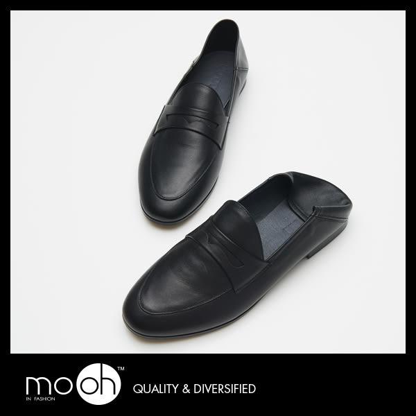 牛津鞋 穆勒鞋 中性皮鞋 歐美真皮兩穿英倫鞋樂福鞋 mo.oh(歐美鞋款)