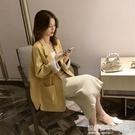 2020年春秋新款上衣女寬鬆韓版英倫風短款西服chic網紅小西裝外套 設計師生活百貨