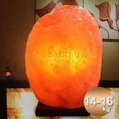 【鹽夢工場】天然精選玫瑰鹽燈14-16kg(原木座)