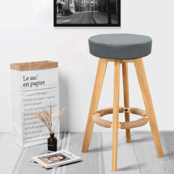 FDW【AT04】免運現貨平日24H出貨*實木簡約吧檯椅可旋轉/高腳椅/吧台椅/設計師/工作椅/餐椅