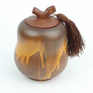 礦岩泥茶葉罐葫蘆