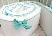 Lori's 優質長版超厚嬰兒床圍-微笑藍