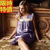 睡衣-真絲質俐落蕾絲刺繡桑蠶絲女居家服68g32【時尚巴黎】