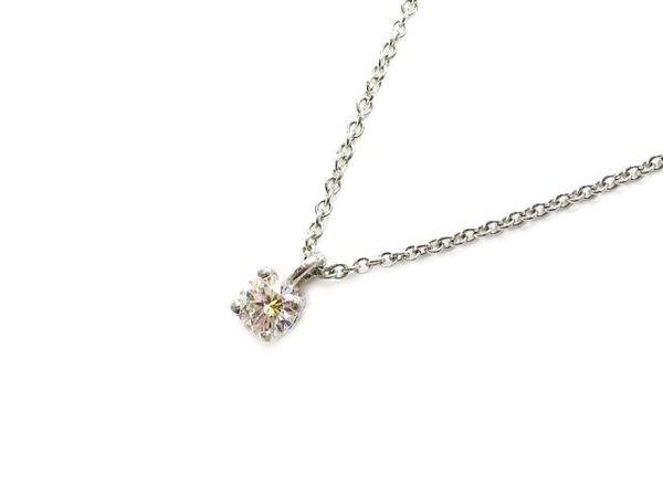【特價14%OFF】TIFFANY&CO Solitaire系列鑽石項鍊 PT950 【BRAND OFF】