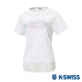 K-SWISS T-Shirt 韓版短袖T恤-女-白