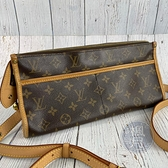 BRAND楓月 LOUIS VUITTON LV 路易威登 M40008 原花 三角 斜背包 側背包