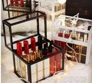 化妝收納盒-網紅玻璃口紅收納盒防塵防水桌...