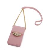 Petite Jolie  盾牌LOGO果凍手機包-粉紅色