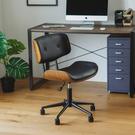 電腦椅 書桌椅 辦公椅 工作椅【K0012】洛林皮革木辦公椅(兩色) 收納專科