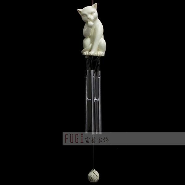 【富藝家飾】貓咪風鈴  居家裝飾品 傢飾品
