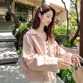 粉色牛仔外套女春裝新款韓版寬鬆bf百搭棒球服夾克小清新上衣 韓國時尚週