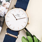 DW Daniel Wellington Classic 40mm DW00100275 玫瑰金框 藍色 尼龍手錶