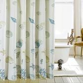 衛生間滌綸布浴簾套裝酒店歐式窗簾掛簾免打孔浴室簾