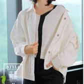 風衣米肯秋季新款寬鬆牛仔夾克上衣女長袖棉布白色牛仔短外套女裝【下殺85折起】