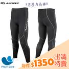 【零碼出清】AROPEC#XS、2XL號 男壓力褲 Compression Tights I 代 黑 壓縮褲(恕不退換貨)